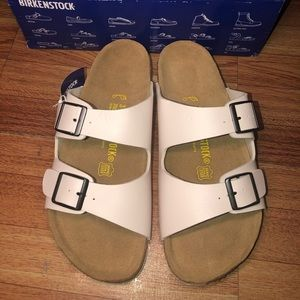 Birkenstock Arizona Sandals White Sz:39